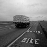 Bike Route - Hwy-1 West, Calgary, Alberta, Canada - Summer 1990