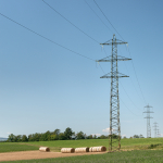 High Voltage Lines - Reggio Emilia, Italy - July 19, 2020