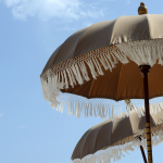 Beach Umbrellas - Playa del Carmen, Mexico - August 20, 2014