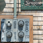 Electricity meters (Urban still life) - Newport, Rhode Island, USA - August 16, 2015