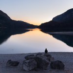 Twilight - Lago di Molveno - Molveno, Trento, Italy - October 29, 2016