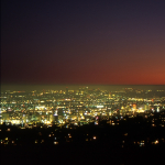 L.A. at Twilight - Griffith Observatory, Los Angeles, California, USA - August 1995